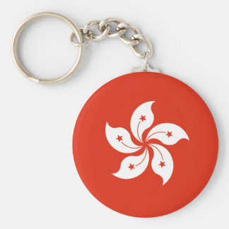 Low Cost! Hong Kong Flag Basic Round Button Keychain