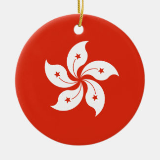 Low Cost! Hong Kong Flag Ceramic Ornament