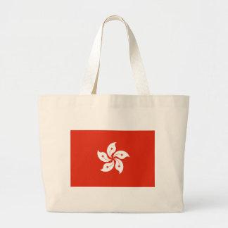 Low Cost! Hong Kong Flag Large Tote Bag