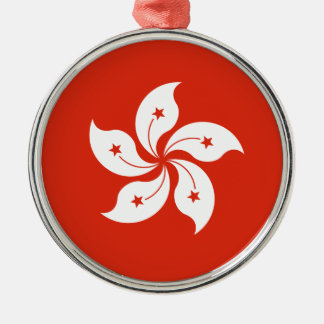 Low Cost! Hong Kong Flag Metal Ornament