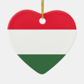 Low Cost! Hungary Flag Ceramic Heart Ornament