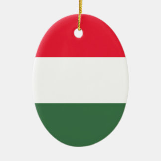 Low Cost! Hungary Flag Ceramic Oval Ornament
