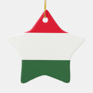 Low Cost! Hungary Flag Ceramic Star Ornament
