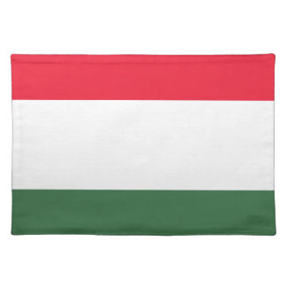 Low Cost! Hungary Flag Placemats