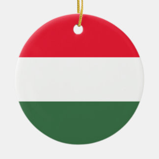 Low Cost! Hungary Flag Round Ceramic Ornament
