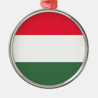 Low Cost! Hungary Flag Silver-Colored Round Ornament