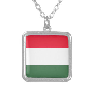 Low Cost! Hungary Flag Silver Plated Necklace