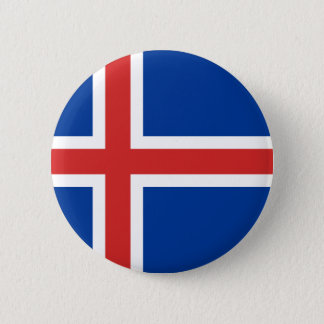 Low Cost! Iceland Flag 2 Inch Round Button