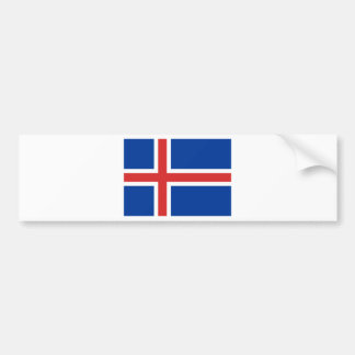 Low Cost! Iceland Flag Bumper Sticker
