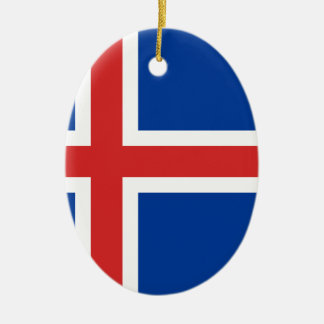 Low Cost! Iceland Flag Ceramic Ornament