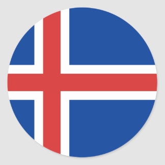 Low Cost! Iceland Flag Classic Round Sticker