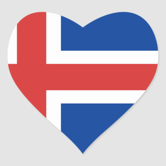 Low Cost! Iceland Flag Heart Sticker