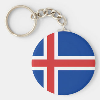 Low Cost! Iceland Flag Keychain