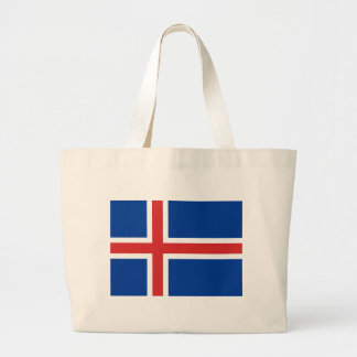 Low Cost! Iceland Flag Large Tote Bag