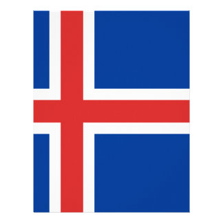 Low Cost! Iceland Flag Letterhead