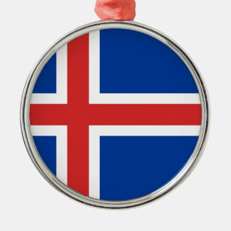 Low Cost! Iceland Flag Metal Ornament