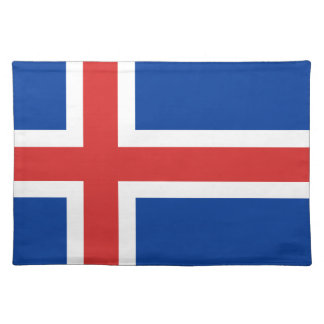Low Cost! Iceland Flag Placemat