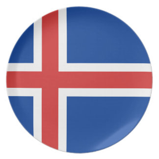 Low Cost! Iceland Flag Plate