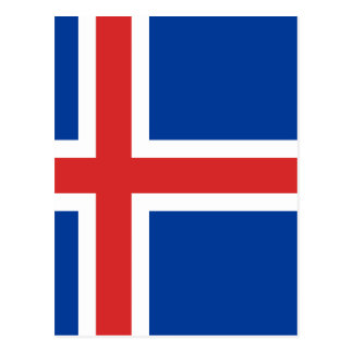 Low Cost! Iceland Flag Postcard
