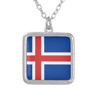 Low Cost! Iceland Flag Silver Plated Necklace