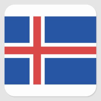 Low Cost! Iceland Flag Square Sticker