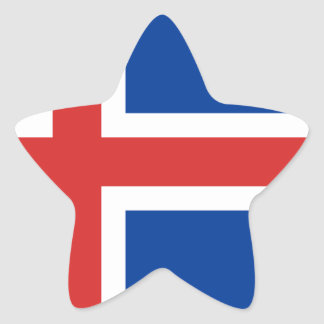 Low Cost! Iceland Flag Star Sticker
