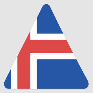 Low Cost! Iceland Flag Triangle Sticker