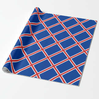 Low Cost! Iceland Flag Wrapping Paper
