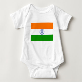 Low Cost! India Flag Baby Bodysuit
