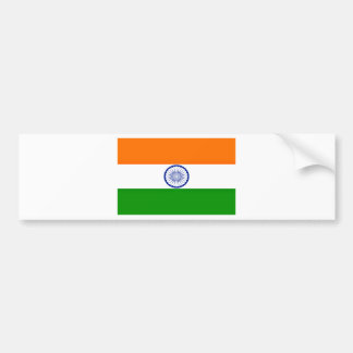 Low Cost! India Flag Bumper Sticker