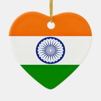 Low Cost! India Flag Ceramic Heart Ornament