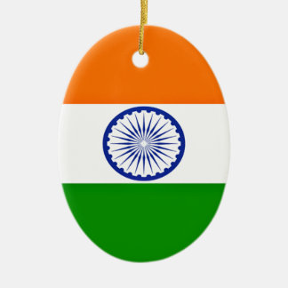 Low Cost! India Flag Ceramic Oval Ornament
