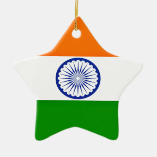 Low Cost! India Flag Ceramic Star Ornament