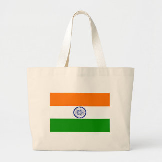 Low Cost! India Flag Large Tote Bag