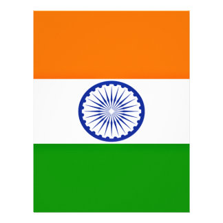 Low Cost! India Flag Letterhead