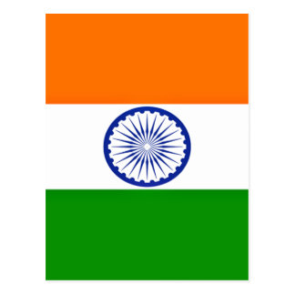 Low Cost! India Flag Postcard