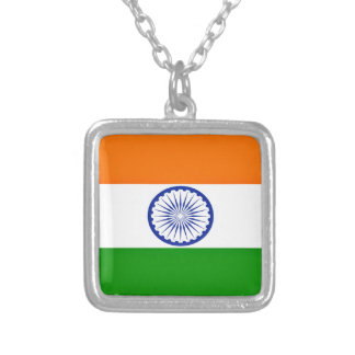 Low Cost! India Flag Silver Plated Necklace