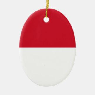 Low Cost! Indonesia Flag Ceramic Ornament