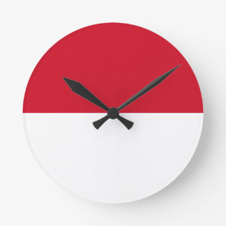 Low Cost! Indonesia Flag Clock