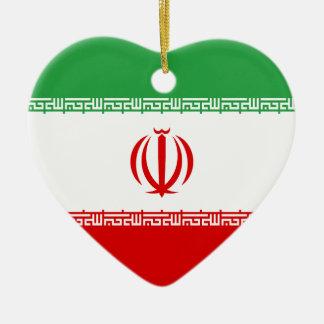 Low Cost! Iran Flag Ceramic Ornament