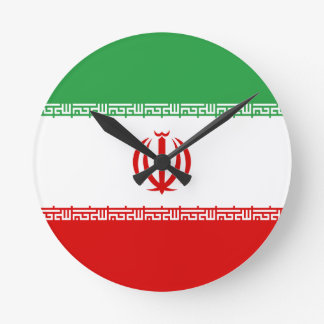Low Cost! Iran Flag Round Clock