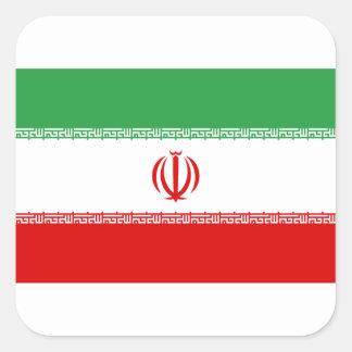 Low Cost! Iran Flag Square Sticker