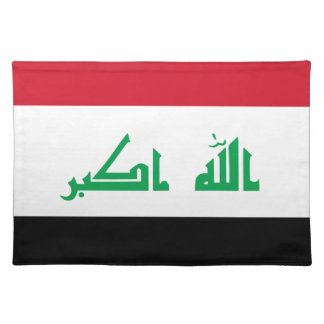 Low Cost! Iraq Flag Placemat