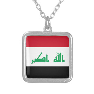 Low Cost! Iraq Flag Silver Plated Necklace