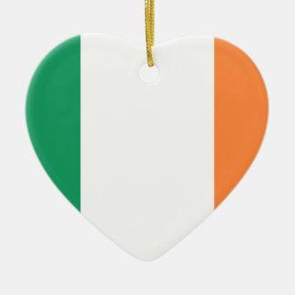 Low Cost! Ireland Flag Ceramic Heart Ornament