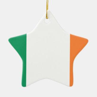 Low Cost! Ireland Flag Ceramic Star Ornament