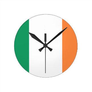 Low Cost! Ireland Flag Round Clock