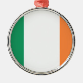 Low Cost! Ireland Flag Silver-Colored Round Ornament