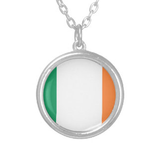 Low Cost! Ireland Flag Silver Plated Necklace