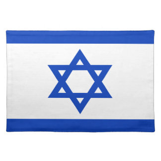 Low Cost! Israel Flag Placemat